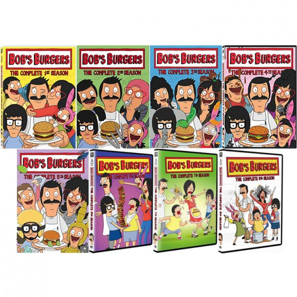 dvd sales uk bob's burgers complete series 1-8 box set