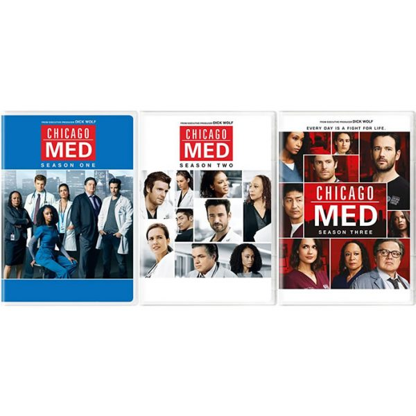 dvd sales uk chicago med complete series 1-3 box set