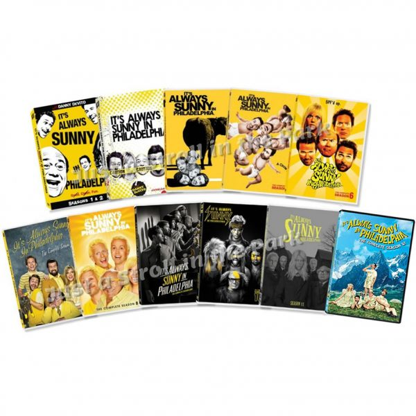 dvd sales uk it's always sunny in philadelphia complete series 1-12 box set