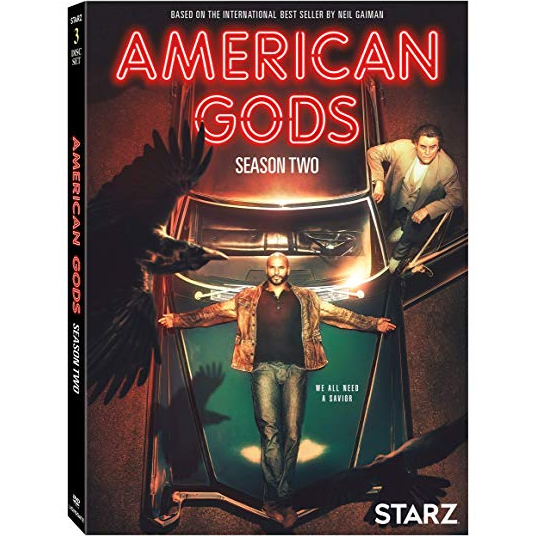 DVD sales uk american gods season 2