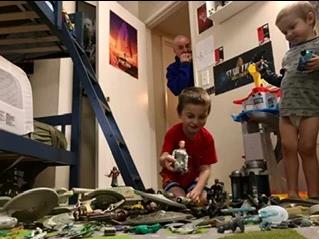 """the sight of my boys enjoying my cherished plastic fleet made this geek's heart swell."""