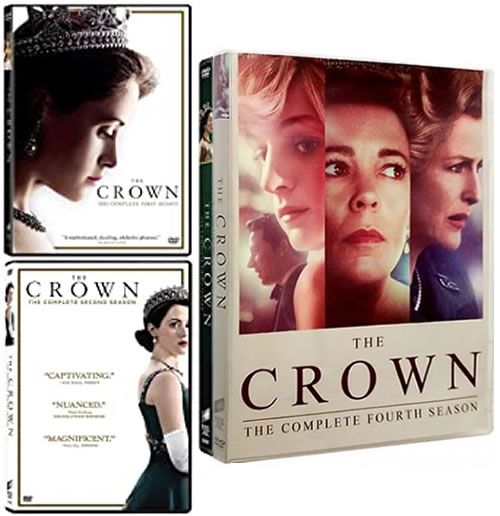 The Crown: Complete Series 1-4 DVD For Sale